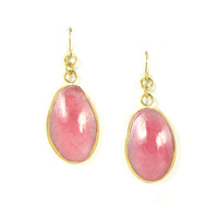 Made Mayai Glass Earrings in Pink