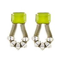 Loren Hope Clara Earrings in Chartreuse