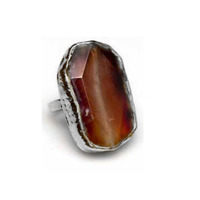 Robyn Rhodes Brighton Ring in Carnelian and Silver