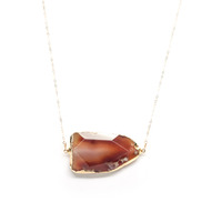 Robyn Rhodes Clayton Necklace in Carnelian and Gold