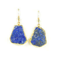Robyn Rhodes Shoshanna Earrings in Lapis and Gold