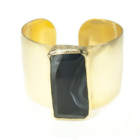 Robyn Rhodes Elan Cuff in Black and Gold