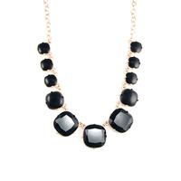 Urban Gem On the Spot Necklace in Black