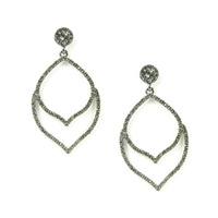 Urban Gem Curly Bracket Earrings in Gunmetal