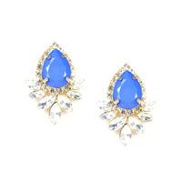 Urban Gem Titanic Teardrops Earrings in Blue
