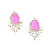 Urban Gem Titanic Teardrops Earrings in Pink