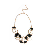 Urban Gem Shattered Jewels Necklace in Black and White