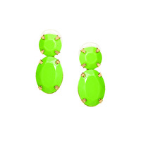 Adia Kibur Super Bright Acrylic Stone Earrings in Green