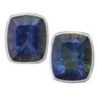 Charles Albert Sterling Silver Mystic Quartz Post Earrings