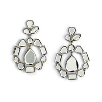 Isharya Mirror Cluster Statement Earrings