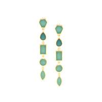 Isharya Shattered Enamel Earrings in Sea Foam