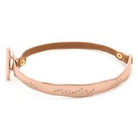Gorjana Cassia Bracelet in Tan and Rose Gold
