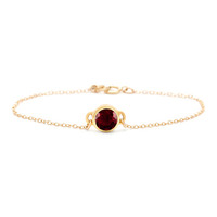Gorjana Faceted Deep Red Corundum Pendant Bracelet