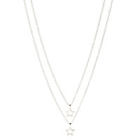 Gorjana Star Charm Layered Necklace in Silver