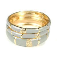 Urban Gem Tahitian Holiday Bangles in Ash