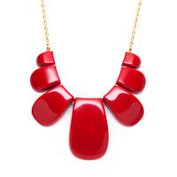 Trina Turk Resin Petal Necklace in Cinnabar