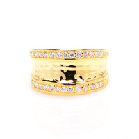 Anuja Tolia Inverted Shield Ring in Gold