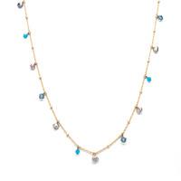 Liz Palacios Crystals and Pearls Long Necklace