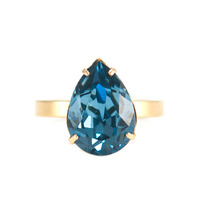 Liz Palacios Teardrop Ring in Denim