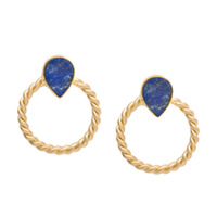 Edge of Ember Ayushi Earrings in Lapis