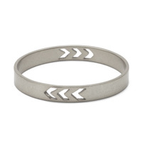 Edge of Ember Tallula Bangle in Silver