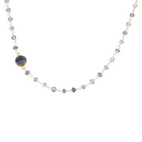 Dara Ettinger Druzy By The Yard Necklace in Amethyst