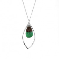 Lotus Jewelry Studio Ingress Necklace in Silver and Biochrysoprase