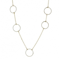 Lotus Jewelry Studio Asymmetrical Twisted Hoop Necklace in Silver and Gold