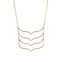 Lotus Jewelry Studio Militia Necklace in Gold-Filled