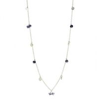Lotus Jewelry Studio Shimmer Necklace in Silver and Iolite
