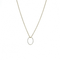 Lotus Jewelry Studio Twisted Link Necklace in Silver and Gold