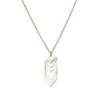 Urban Gem Chevron Pendant Necklace in Gold