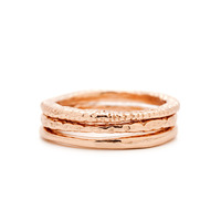 Gorjana Stackable Rings in Rose Gold
