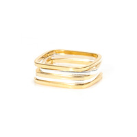 Gamine Zara Rings in Mixed Metals