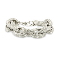 Urban Gem Chunky Link Chain Bracelet in Pave Silver