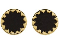 House of Harlow 1960 Sunburst Button Earrings in Black