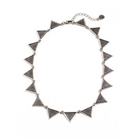 House of Harlow 1960 Triangle Collar Necklace in Silver