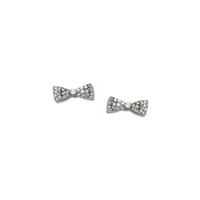Urban Gem All Tied Together Studs in Pave Silver