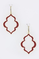 Urban Gem Baroque Borders Earrings in Fire