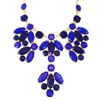 Urban Gem Kensington Palace Necklace in Blue