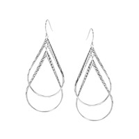 Urban Gem Twists and Turns Earrings in Silver