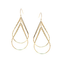 Urban Gem Twists and Turns Earrings in Gold
