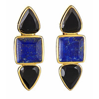 Margaret Elizabeth The Hydras Earrings in Black Onyx and Lapis