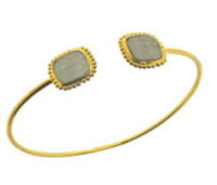 Lucas Jack Delightfully Delicate Bangle in Deep Grey
