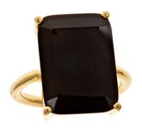 Margaret Elizabeth Emerald Cut Ring in Black