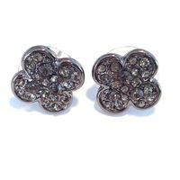 Urban Gem Gunmetal Clover Earrings