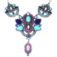 Urban Gem Tribal Pattern Statement Necklace