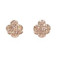 Urban Gem Clover & Crystal Earrings in Gold