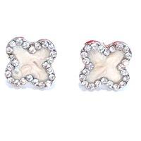 Urban Gem Pearl Clover Earrings