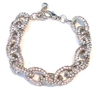 Urban Gem Bling On Bracelet in Silver